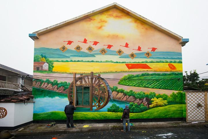 景德镇涂鸦画画,景德镇幼儿园墙面涂鸦,景德镇古建筑彩绘