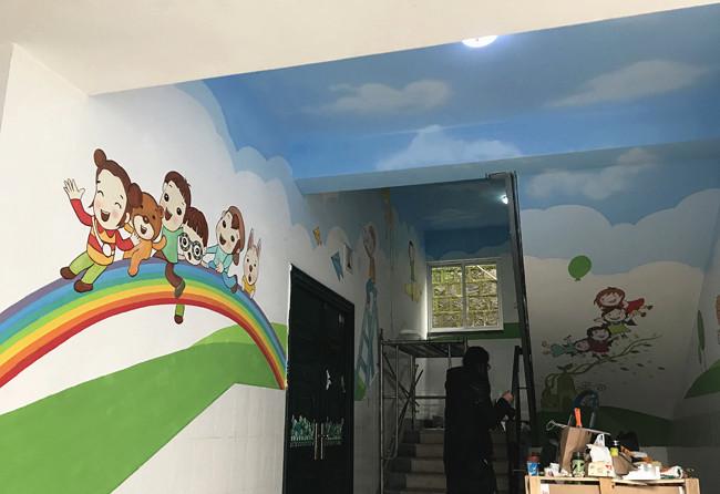 景德镇画背景墙,景德镇手绘墙体绘画,景德镇墙体绘画手绘
