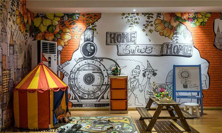 景德镇幼儿园外墙彩绘,景德镇3d墙绘,景德镇墙上写字,景德镇3d立体画墙绘